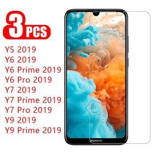 3 шт Защитное стекло для huawei y5 y6 y7 y9 prime pro 2019 закаленное стекло для y 5 6 7 9 5y 6y 7y y62019 Защитная пленка для экрана 9h