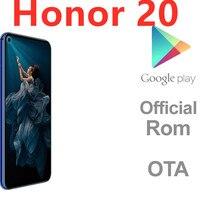 Firmware internacional Honor 20 4G LTE teléfono Android huella digital Dual Sim 48.0MP Kirin 980 de 6,26