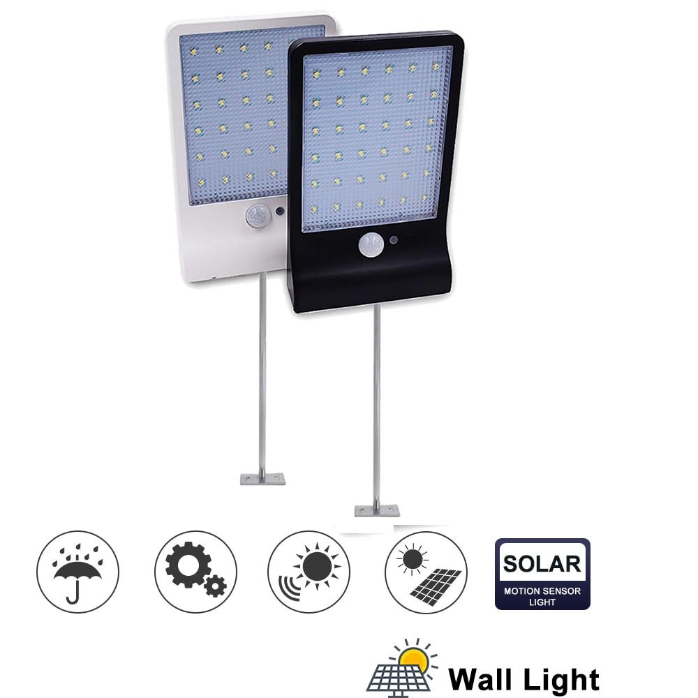Metal Poles HOWPOW 900lm Led Solar Light Outdoor Waterproof Lighting For Garden Wall 48 Leds Four Modes Rotable Pole Solar Lamp