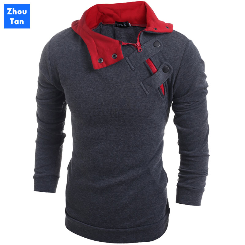 2020 new fashion men Slim casual men's discount sweater 4 colors jacket winter warm hat top coat plus 3XL