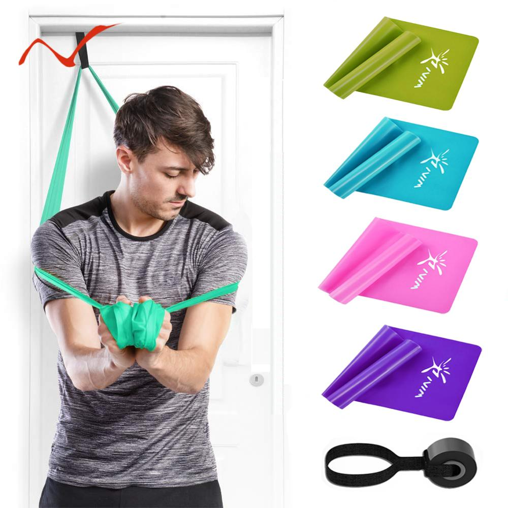 Fitness Resistance Bands Set Of 3 Elastic Bands With Door Anchor For Gym Training Workout Physical Therapy Stretching Pilates