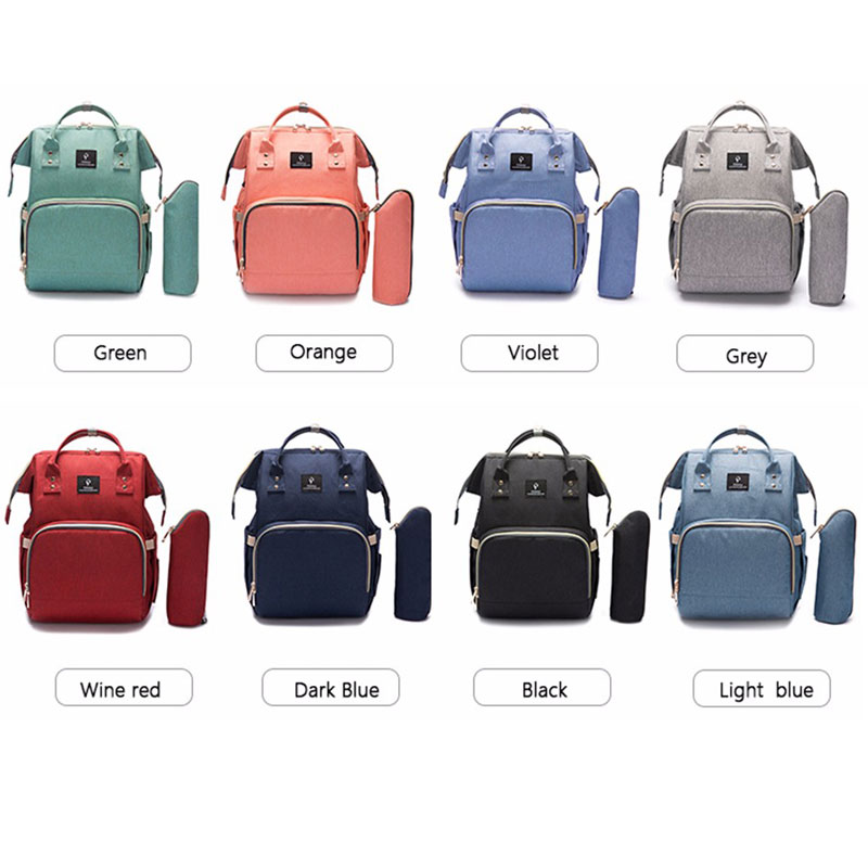H44d6b7d6eff049988341f4ce96d5a005W Diaper Bag With USB Interface Large Capacity Travel Backpack Nursing Handbag Waterproof Nappy Bag Kits Mummy Maternity Baby Bag
