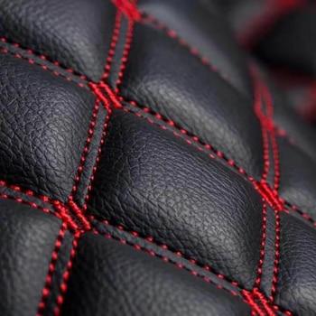 Hand Craft Car Floor Mats 5D PU Leather Embroidery Plaid Custom Floor Mats For Hyundai Elantra GT 2018-2019
