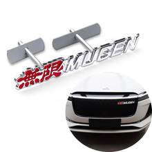 3D Car Styling Metal Front Grille Badge Stickers For Honda Mugen Emblem Grille for Odyssey ACCORD CITY Crosstour SPIRIOR