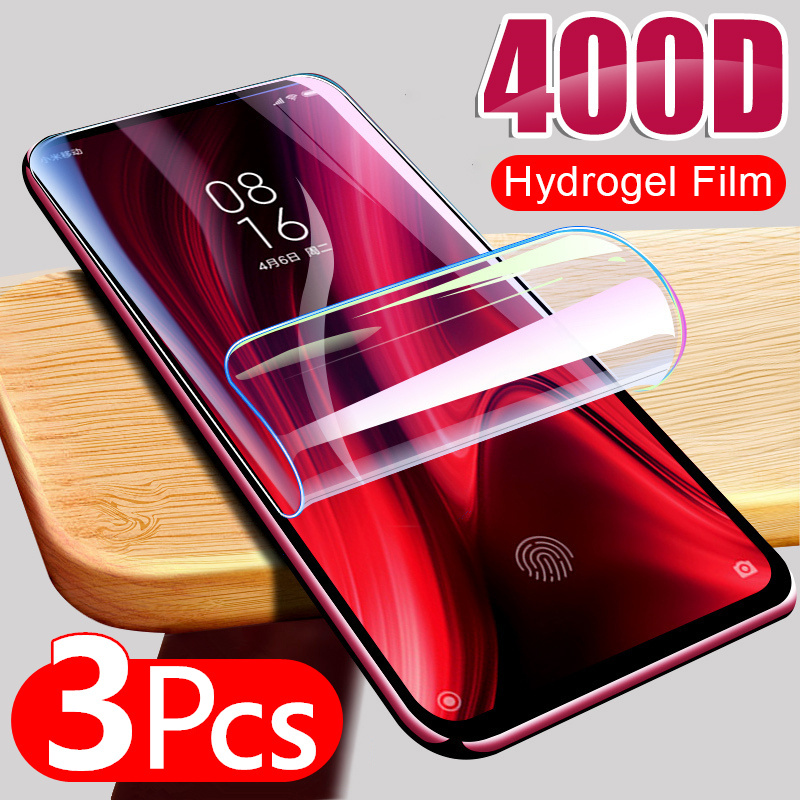3Pcs Hydrogel Film For Xiaomi Redmi Note 9S 9 Pro Max 7 8 K30 K20 8T poco X3 nfc Screen Protector Redmi 8 8A Protective No Glass(China)