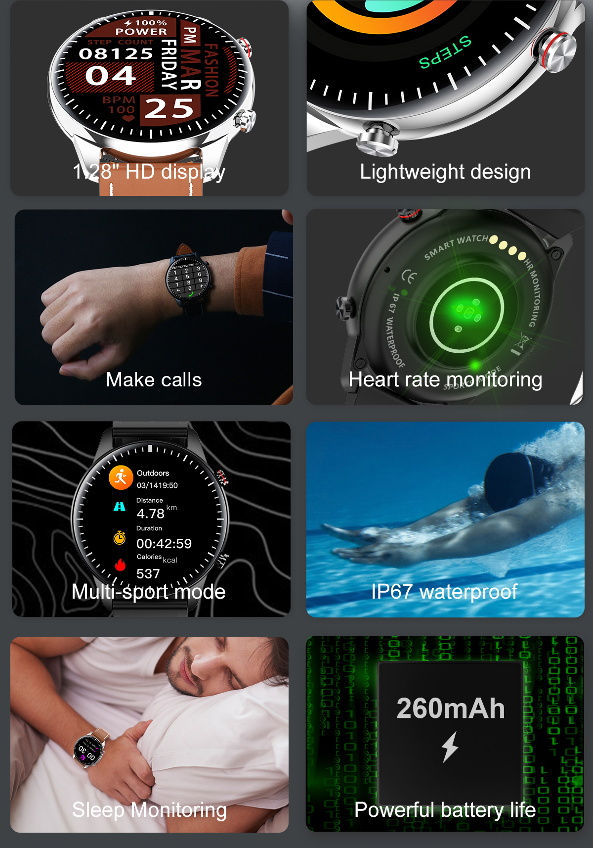 H44d7398341f545cb94b5e9b6c7346efat 2021 NEW Smart Watch Women Men Full Touch Fitness Tracker IP67 Waterproof Smartwatch For Android Xiaomi Redmi