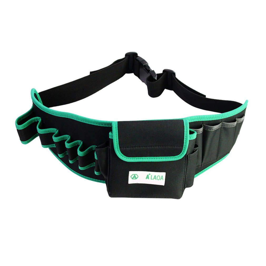 Waterproof Electrician Storage Tool Bag Double Layers Belt Waist Pocket Case Multi-pockets Carrying Pouch