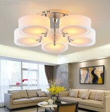 デテトデクリスタルホワイトシェードアクリル光沢 新しい現代の天井照明現代のファッショナブルなデザインのダイニングルームランプ pendente
