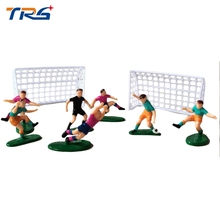 1/25 Scale Painted Model Resin Football Player Figures 1/30 Diorama Model Football Gate For Football Playground Layout Toy Kits цена
