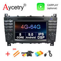 4G 64G 2 DIN Android 9.0 Auto DVD GPS Voor Mercedes/Benz W203/W209/W219 /W463/CLK200/CLK22/C180/C200/A160 EEN/C-Klasse auto radio dsp