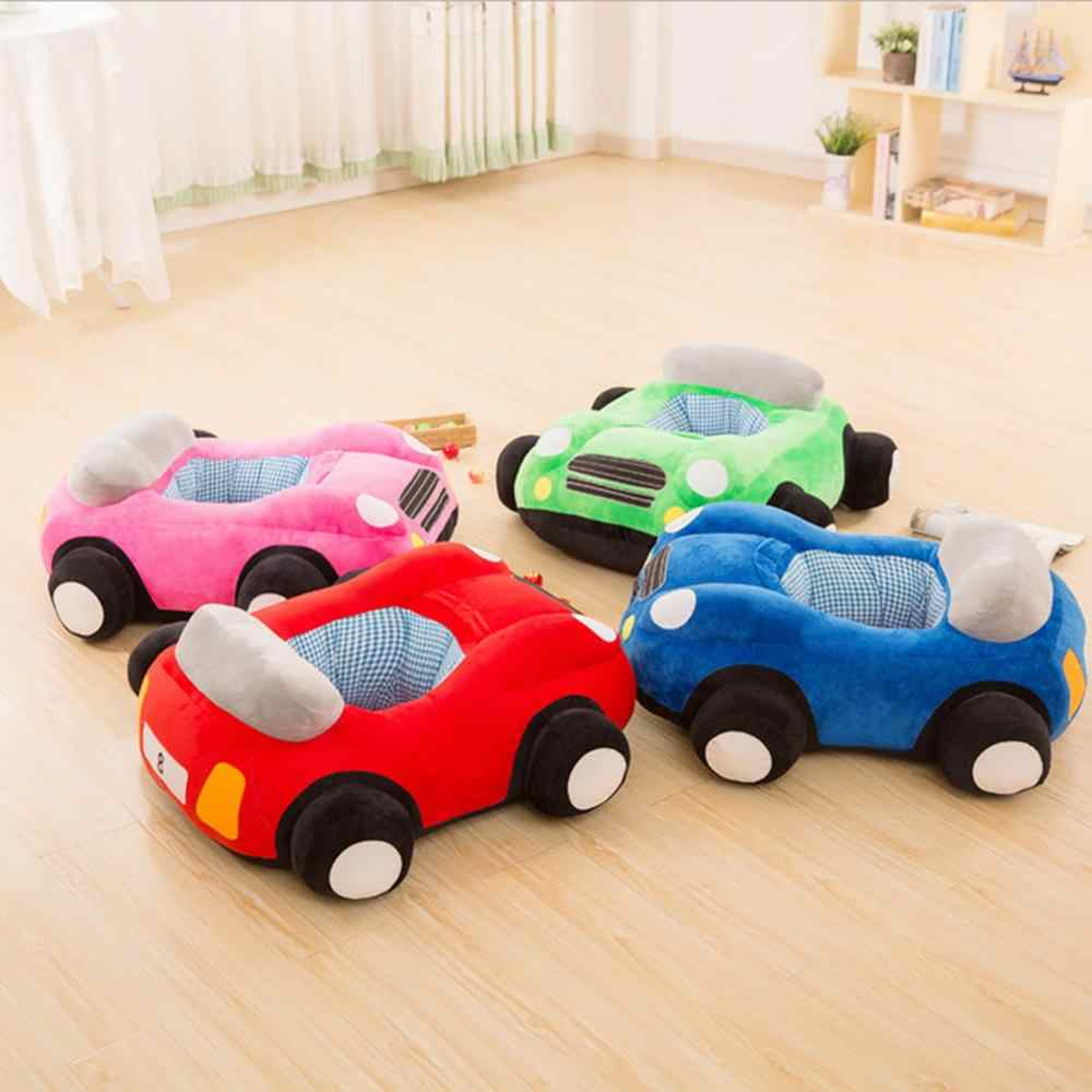 Baby Seats Sofa Toys Car Seat Learning To Sit Baby Plush Without Filler Car Sofa Plush Toy Blue Pink Red Green