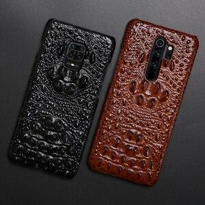 Image 2 - Coque de téléphone en cuir pour Xiaomi Redmi Note 9 S 8 7 6 5 K30 Mi 9 se 9T 10 Lite A3 Mix 2s Max 3 Poco F1 X2 X3 F2 Pro tête de Crocodile