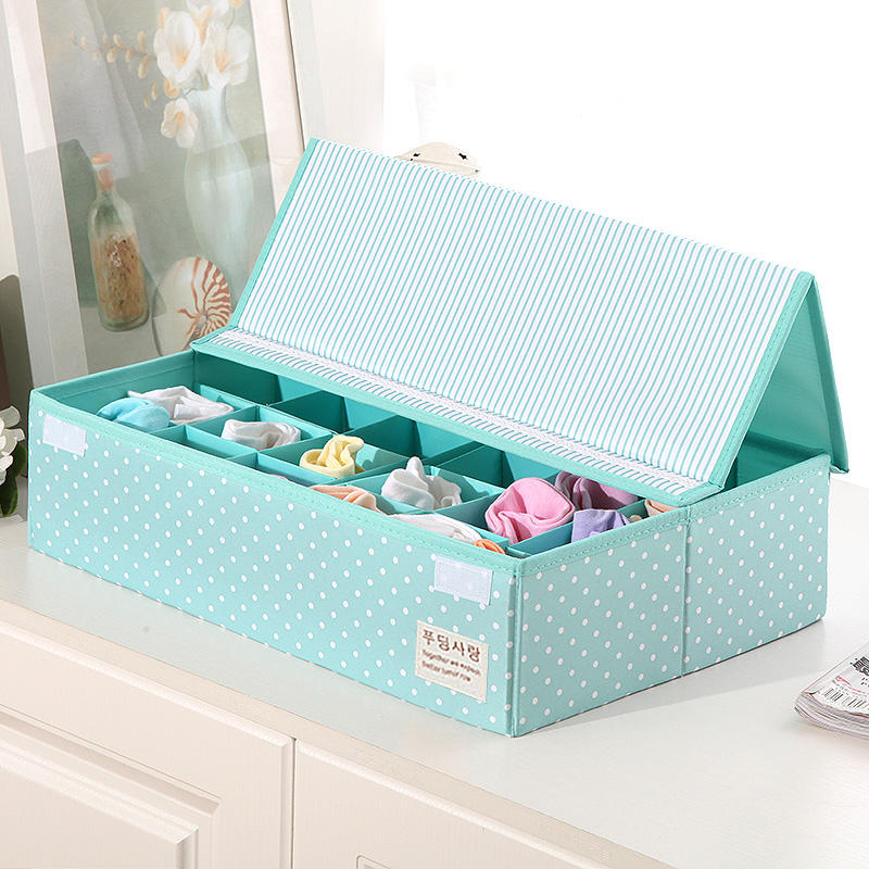 30 Grid Underwear Bras Organizer Storage Boxes Scarfs Sock Divider Lidded Closet Boxes Wholesale Accessories Supplies Products|Drawer Organizers| |  - title=