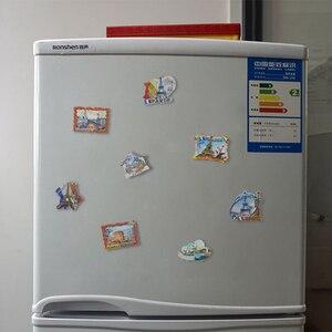 Image 2 - Souvenir Fridge Magnets Country Paris Resin Refrigerator Sticker Travel Turkey Italy Souvenir Magnets for Fridges Greece Tourist