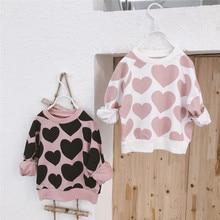 Baby Girls Sweatshirt Toddler Kids Boy Cute Love Pattern Hoo