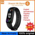 Смарт-браслет Xiaomi Mi Band 6, цветной дисплей AMOLED 1,56 дюйма, фитнес-трекер с измерением пульса и уровня кислорода в крови, Bluetooth, 5 цветов