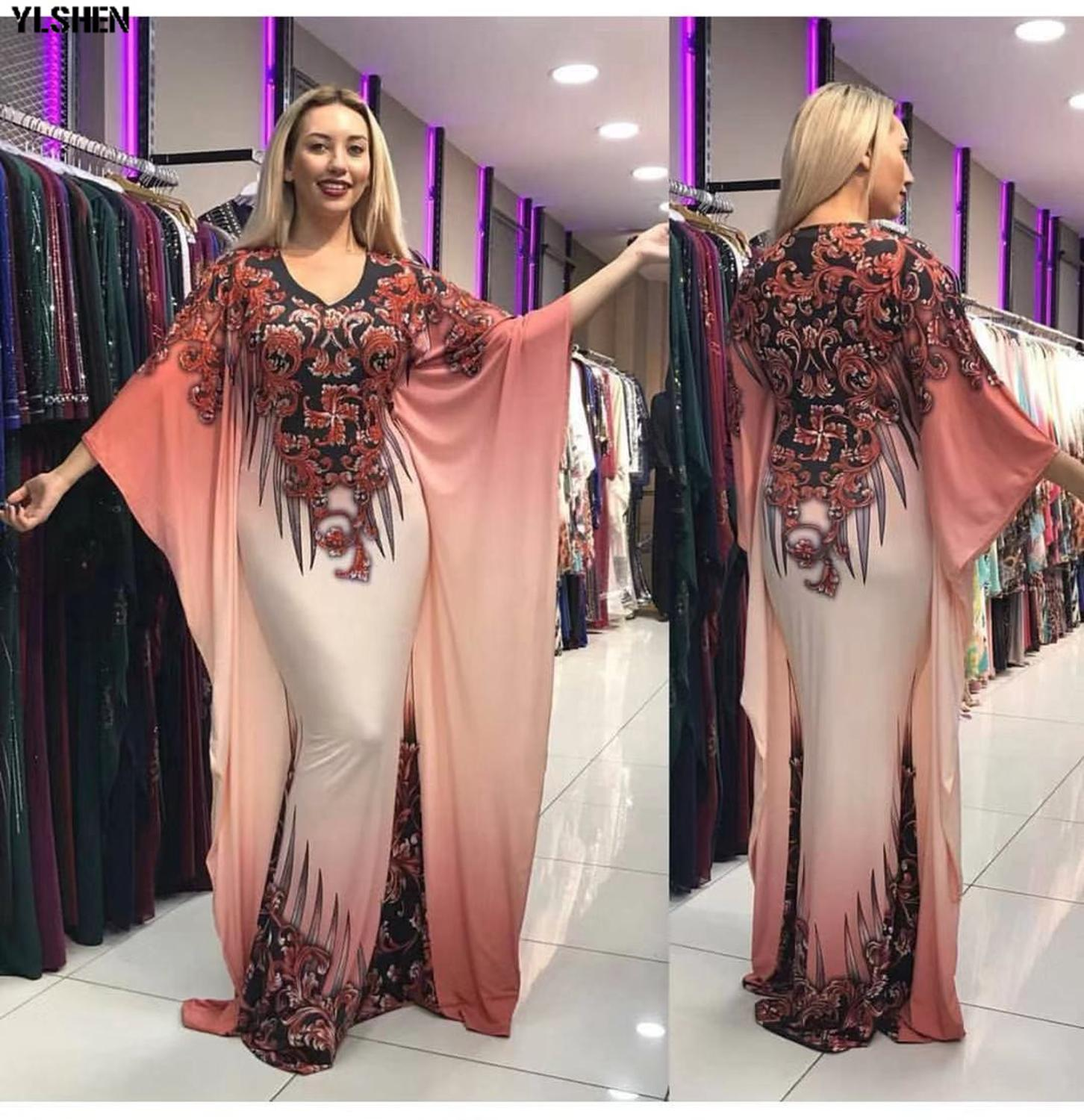 African Dresses for Women Plus Size Dashiki Print African Clothes Sexy Slim Robe Africain Grown Big Sleeve Africa Dress Clothing
