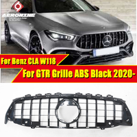 For Mercedes CLA W118 X118 C118 CLA180 CLA200 CLA250 Front Grille Grills GT Style ABS Black Sports Bumper Without/CM 2019 2020