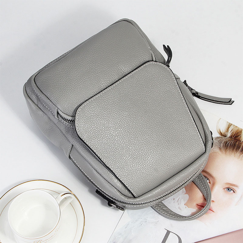 2020 Fashion Spring Soft Natural Genuine Leather Women's Backpack Women Ladies First Layer Real Cowhide Casual Bags Backpacks
