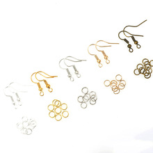 Ear hook single circle earrings earrings diy material handmade accessories material package jewelry accessories