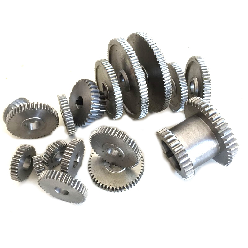ABSS-17Pcs/Set Mini Drehmaschine Getriebe, Metall Schneiden Maschine Zahnräder, Drehmaschine Getriebe