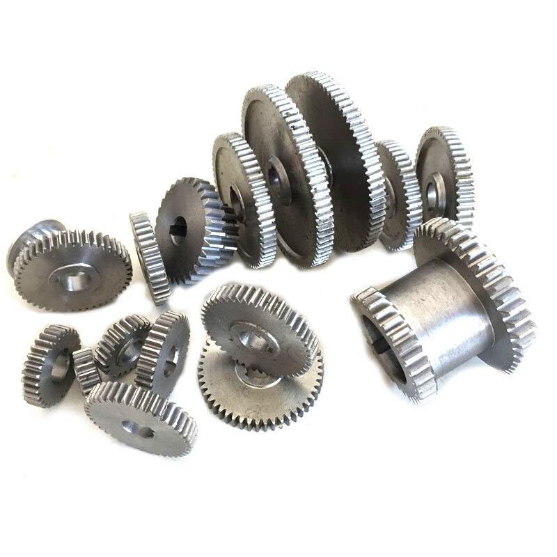 ABSS-17Pcs/zestaw mini koła zębate do tokarki, maszyna do cięcia metalu, przekładnie tokarskie