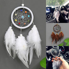 Vintage home dekoration retro feather dream catcher rund federn wand hängen dreamcatchers dekor für auto Geburtstag Geschenk BDF(China)