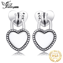 Jewelrypalace 925 Sterling Silver Earrings Pure Heart Stud Earrings Love Fashion Jewelry Women Gifts for Her Anniversary Bridal недорого