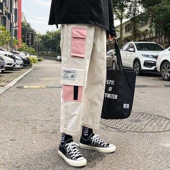 Spodnie dresowe TripleLeaf Streetwear męskie spodnie dresowe spodnie dresowe hip-hopowe spodnie dresowe tanie i dobre opinie RANMO Cargo pants CN (pochodzenie) Mieszkanie Poliester Luźne Pełnej długości W stylu Safari Midweight Kostki długości spodnie