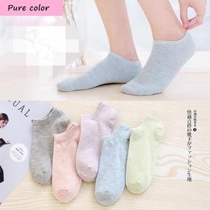 Image 3 - 7 pares seamle Mulheres meias Primavera novo estilo meias Barco meias finas No Tornozelo Confortável Meias mulheres meias Engraçadas kawaiisock para mulheres