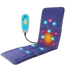 KLASVSA matelas chauffant électrique à infrarouge vibrant, Massage du cou et du dos, Relaxation du lit, soins de santé