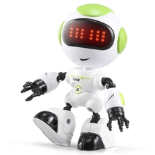 Kids Touch Control Mini Robot LED Eyes Voice DIY Body Gesture Educational Toys Q6PD