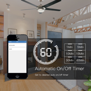 Image 4 - WiFi Smart Ceiling Fan Light Lamp Wall Switch Smart Life/Tuya APP Remote Various Speed Control Works with Alexa Echo Google Home