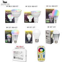 Mi luz Milight MiBoxer 2,4G Led Bombilla E27 GU10 MR16 E14 lámpara Led inalámbrico inteligente W 4W 5W 6W 9W 12W CCT/RGBW/RGBWW/RGB + CCT Led Lig