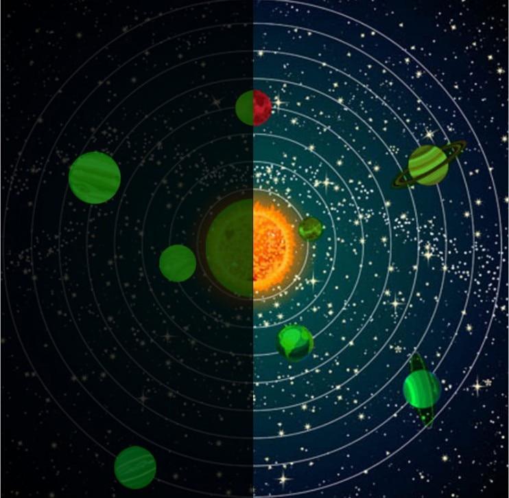 Luminous Planets Wall Stickers Glow In Dark Ten Planets Bedroom Wall Decal Sticker