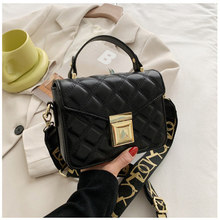 Wide Shoulder Strap Handbags New Fashion Rhombus Bag Shoulder Diagonal Portable Small Square Bag