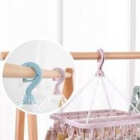Rack Socke Halter Multifunktionale Trocknen 32 Clips Tragbare Socken Tuch Aufhänger Rack Wäscheklammer Kleiderschrank Lagerung Tuch Kleiderbügel-in Kleiderbügel & Gestelle aus Heim und Garten bei