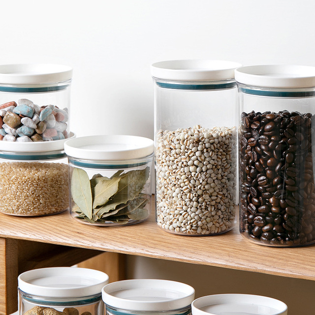 Фото кухня герметичный зерна фасоли контейнер для специй прозрачный цена