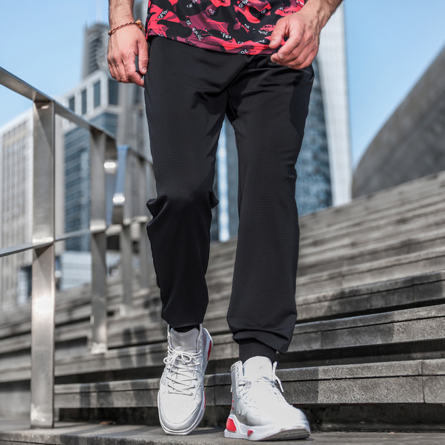 Casual Men Leggings Cotton Breathable Male Solid Color Plus Size Male Pants Men Sweatpants