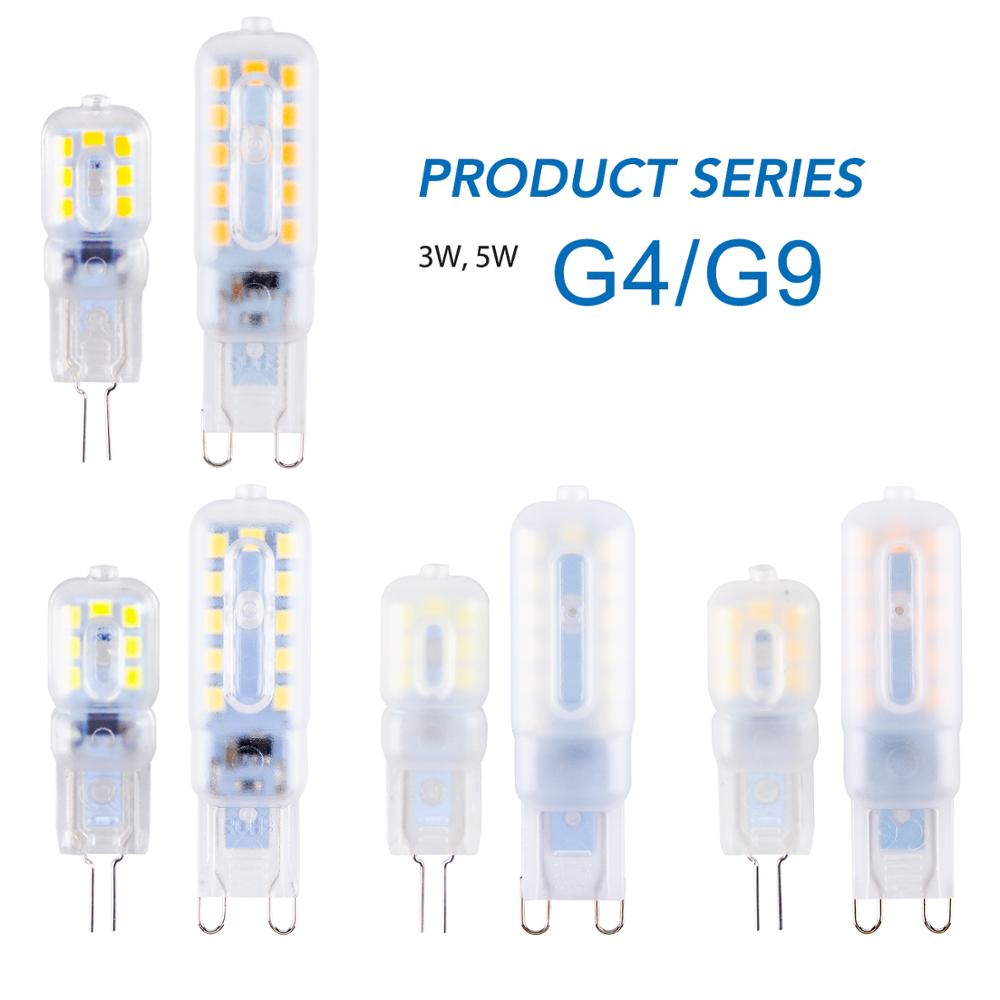 G9 LED Lamp 5W Mini Bulb 3W Corn Bulb G4 LED Dimmable Light 2835 Ampoule g9 LED 220V Candle Light Replace 30W 40W Halogen Lamp image