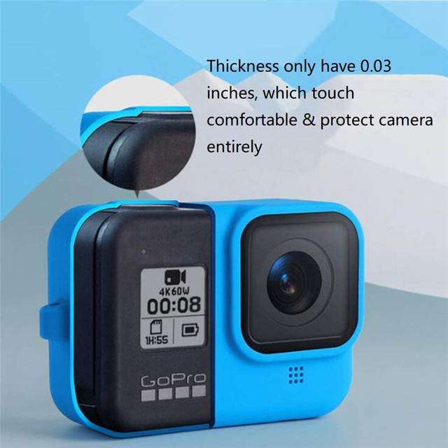 Silicon Protective Cover for GoPro Hero 9 8 Black Sleeve Housing Case Frame with Lanyard Accessory For Go pro 9 8 Case 2