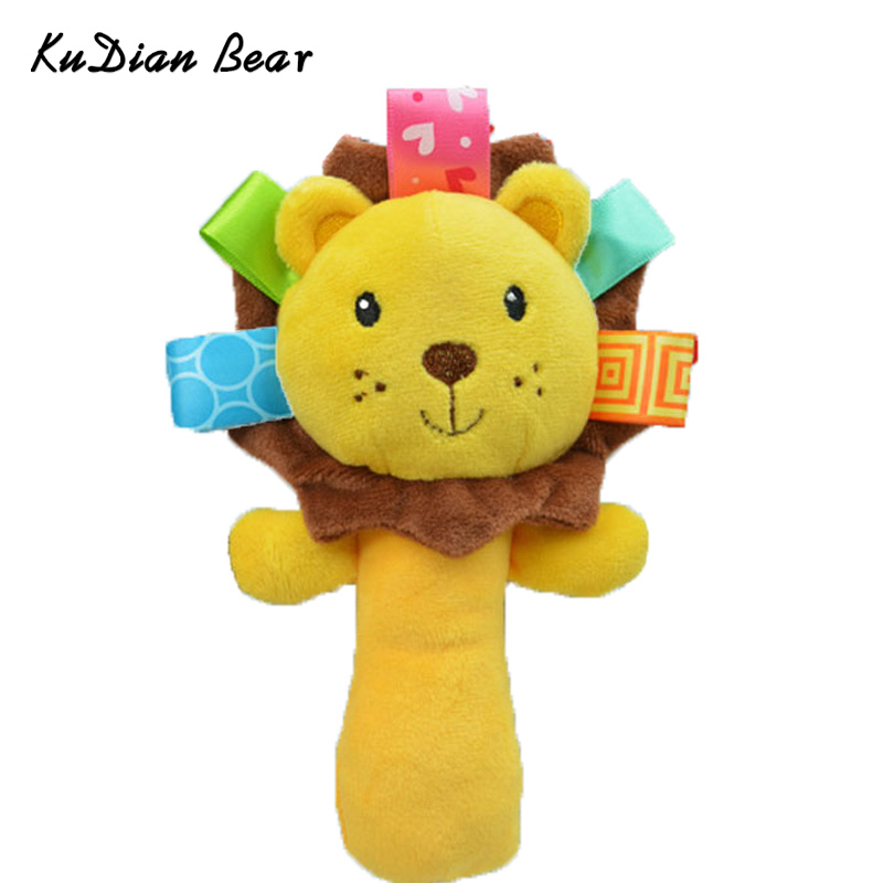 KUDIANBEAR Baby Rattle Cartoon Animal Hand Bell Rattles For Baby Infant Toddler Stuffed Educational Toys For Kids BC008 RP49