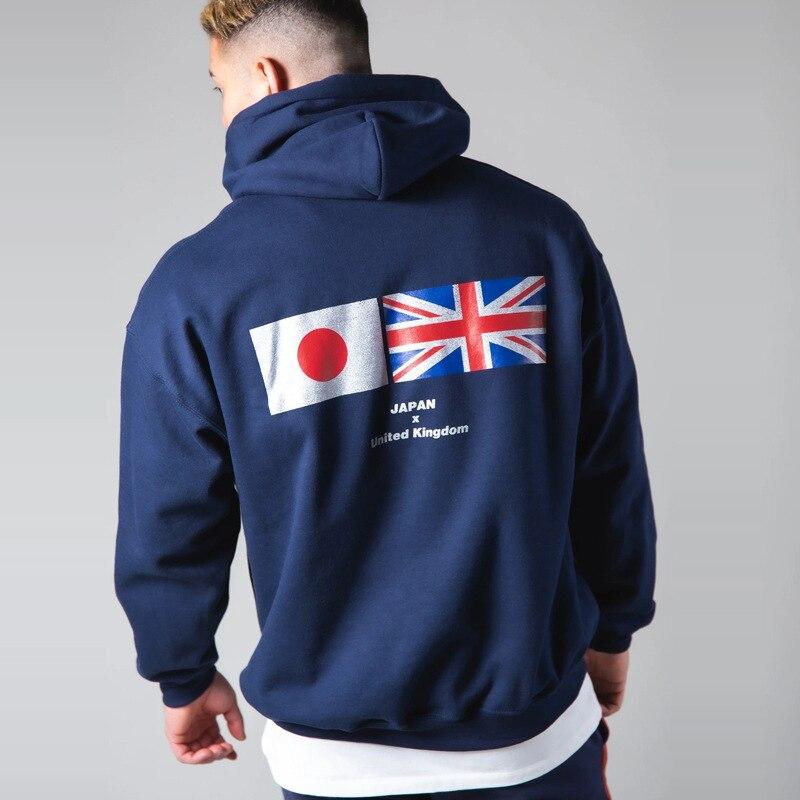 JP & UK 2021 LYFT Männlichen Hoodies Sport Kleidung Laufen Outdoor Mit Kapuze Baumwolle Pullover Gym Fitness Übung Tops männer straße Tragen