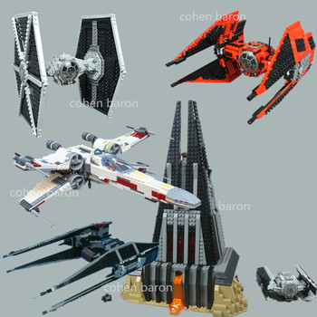 lepin 05040 star wars y star wing attack fighter building block brick diy toy educational gift compatible legoingly 10134 Darth Vader`s X-wing TIE Fighter Castle Star Wars Darth Vader Figures Building Block Brick Toy 75102 Birthday Gift 75242 75251