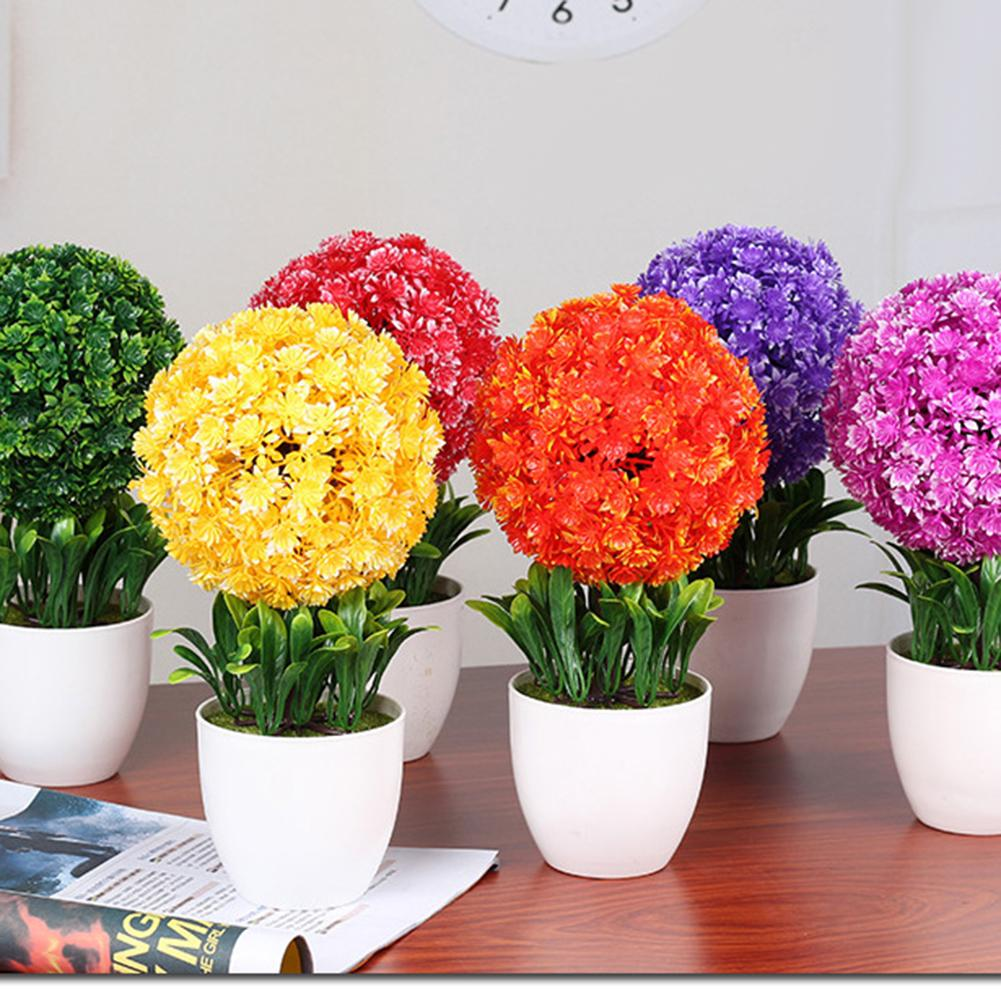 Artificial Simulation Rose Flower Bonsai With Vase Home Wedding Party Decoration