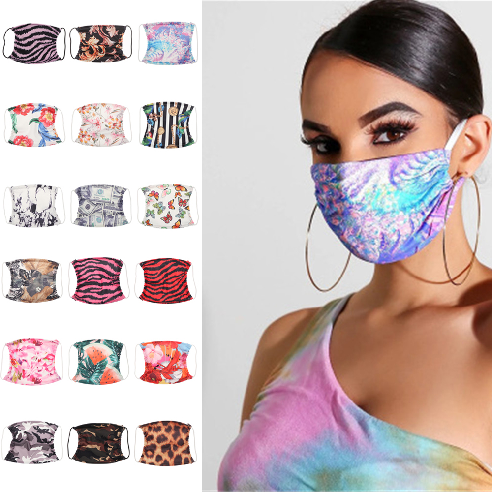 Fashion Polyester Mask Washable Breathable Mask Anti Dust Reusable  Ultraviolet-Proof Double Layer Face Mask For Men Women