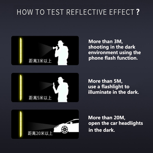 Image 5 - Car Sticker Reflective Warning Safety Tape Film Auto Strip Decoration Bumper Reflection Anti Collision Stickers Car Accessories