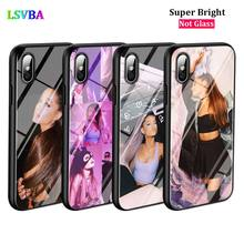 Black Cover Ariana Grande for iPhone X XR XS Max for iPhone 8 7 6 6S Plus 5S 5 SE Super Bright Glossy Phone Case black cover dragon ball goku for iphone x xr xs max for iphone 8 7 6 6s plus 5s 5 se super bright glossy phone case