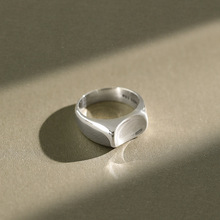 New 100% 925 sterling silver Smooth concave rings for women fine jewelry, silver 925 wedding ring accessories friends gifts недорого