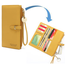 New fashion high quality women long wallet simple style purse
